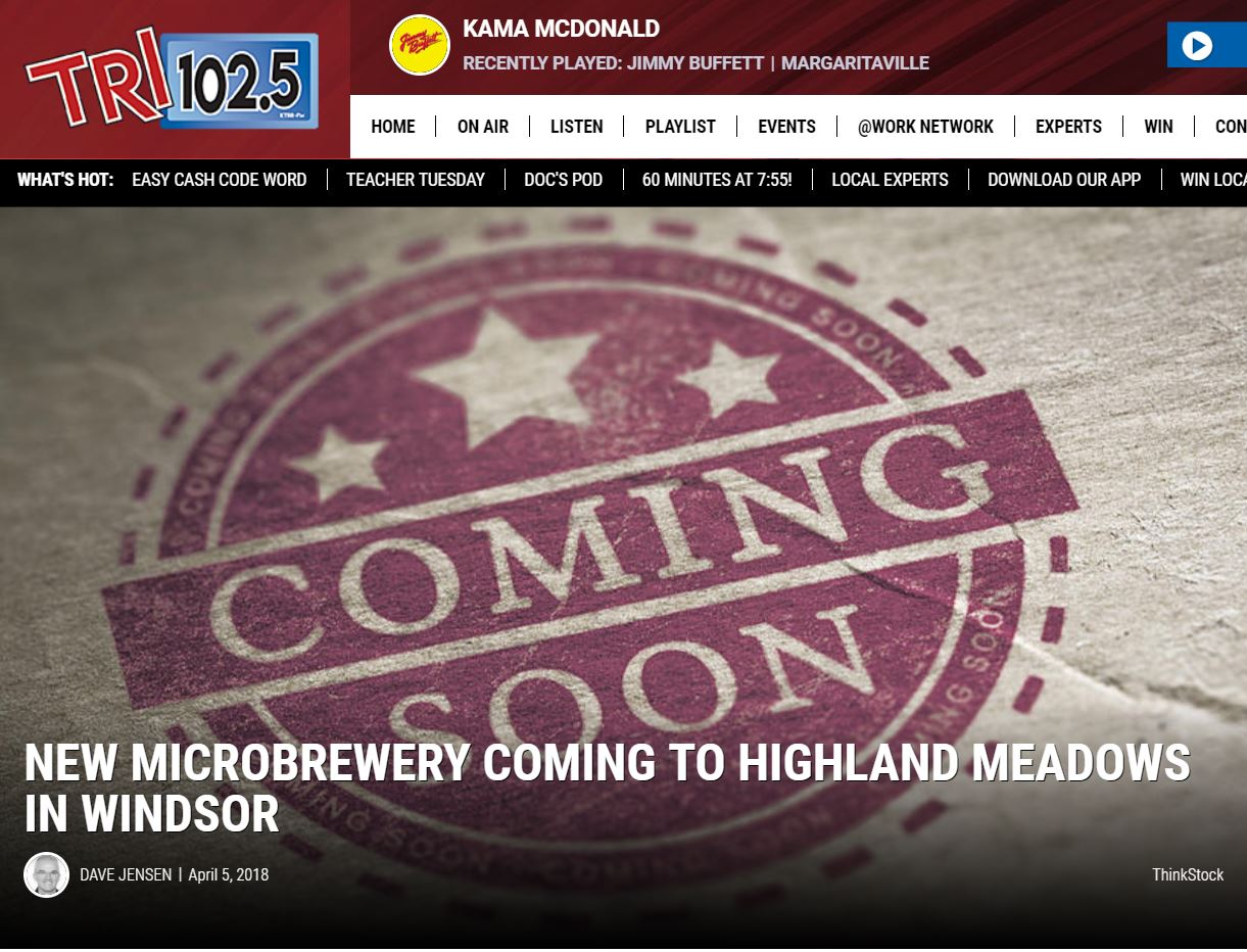 Check out TRI 102.5's Article on Windsor's Most Awaited New Microbrewery!